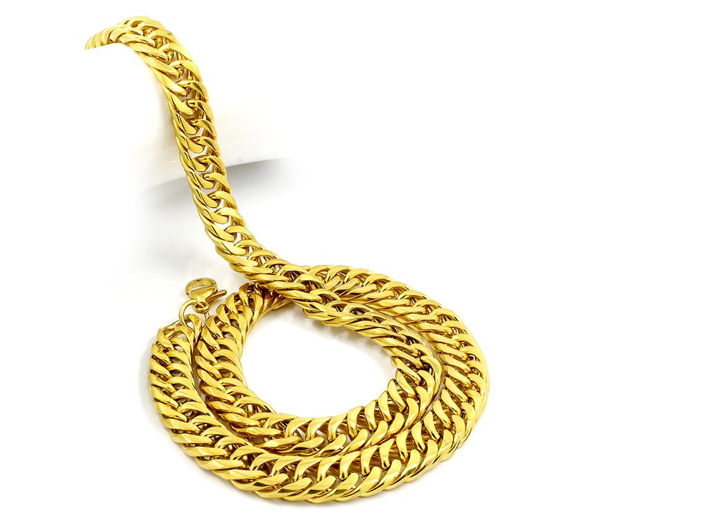 Klasický řetízek - Chirurgická ocel ve zlatém provedení