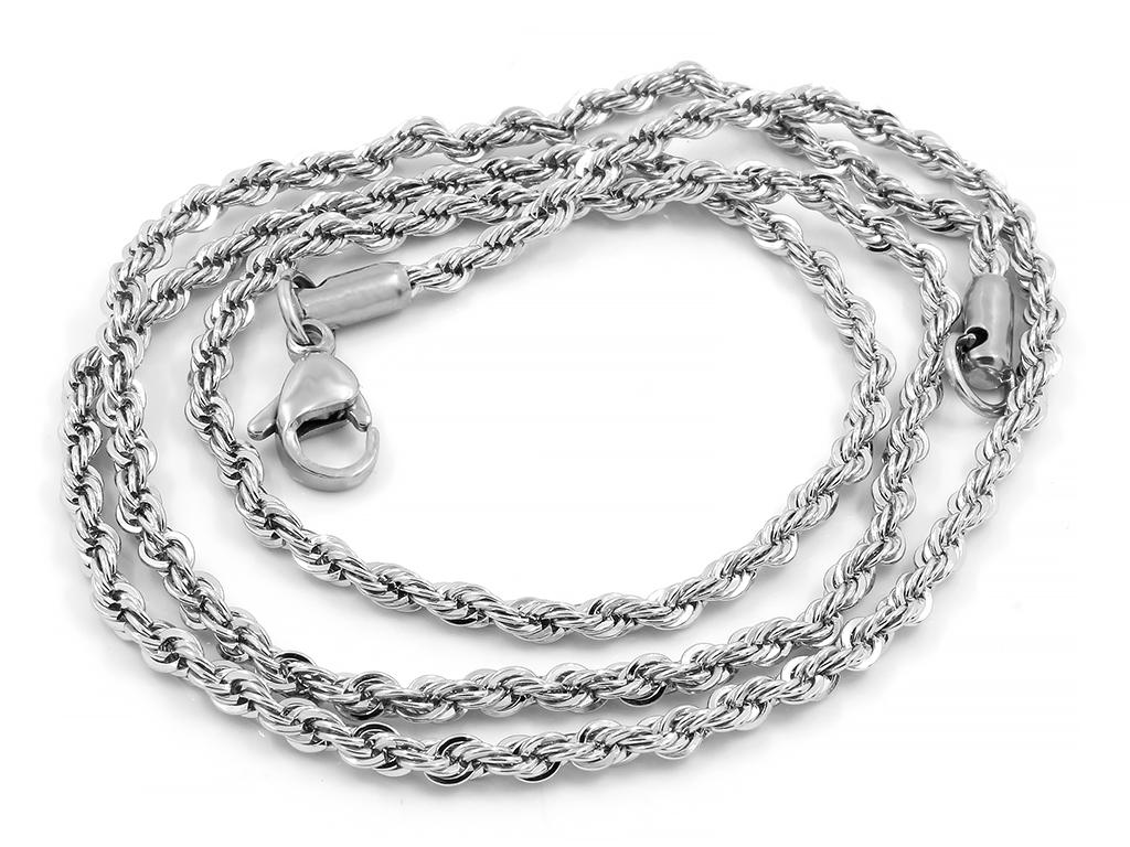 Jemný pletený řetízek  - Chirurgická ocel