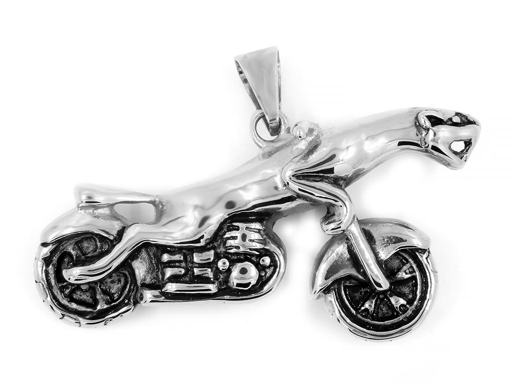 Pánský přívěsek Motorka  ....   Chirurgická ocel - Stainless steel  Velikost přívěsku 5 x 2,5 cm - www.DopravaGratis.cz