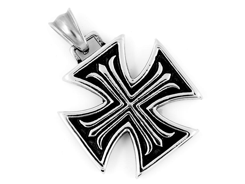 Maltézský kříž, chirurgická ocel ...  Špičková kvalita. Šperk není nutné sundávat při koupání