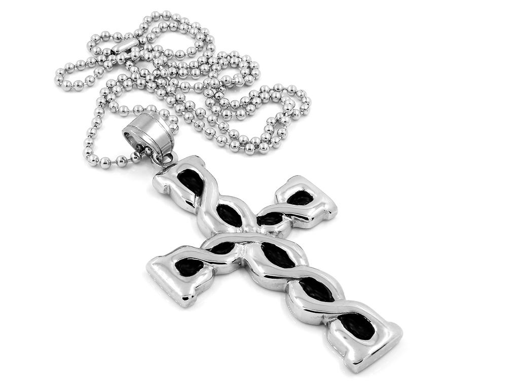 Krásný křížek s řetízkem - Chirurgická ocel