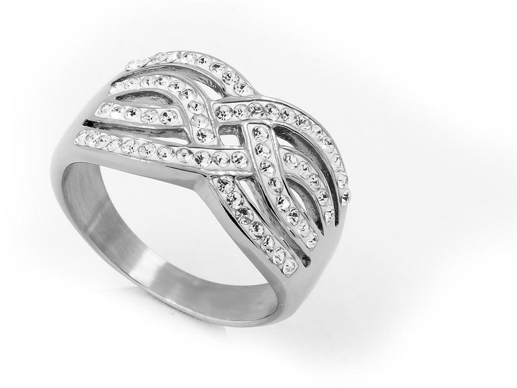 Luxusní dámský prsten se zirkony