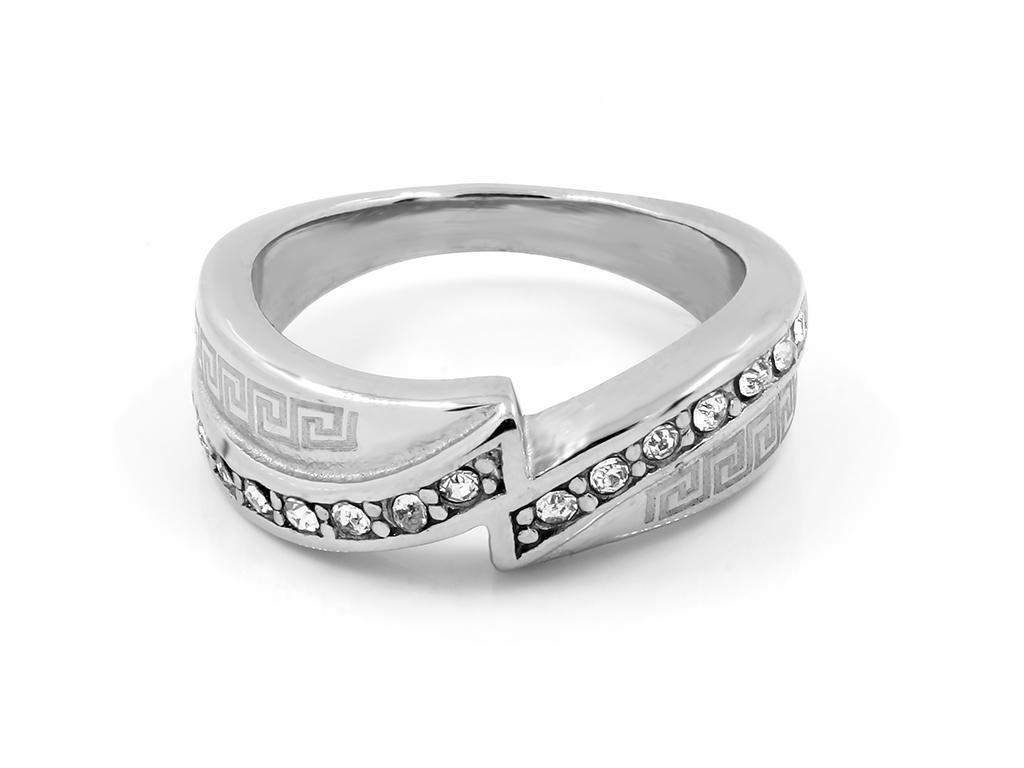 Jemný a drobný prsten se zirkony - Chirurgická ocel